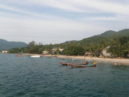 Crystal Dive Resort: View of the beach from the dive boat