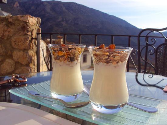 Cases Noves: Mmmmm.... breakfast on the terrace