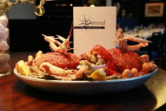 L'Amiral: plateau de fruits de mer