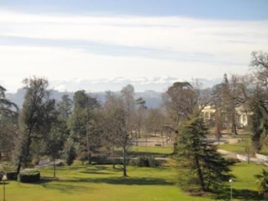 Hotel Parc Beaumont : Vue depuis la terrasse de la chambre