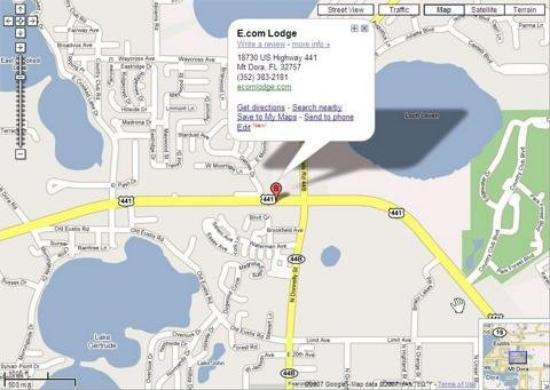 Budget Lodge of Mount Dora: Map