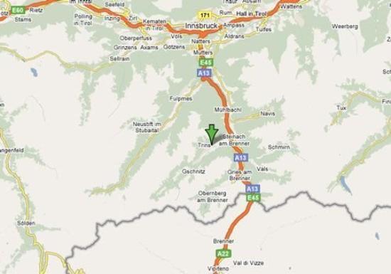 Hotel Tirolerhof: Map