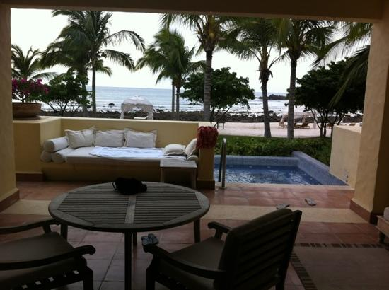 The St. Regis Punta Mita Resort: What a view to wake up to, taken from bedroom. Even our own private spa & kabana on the beach!