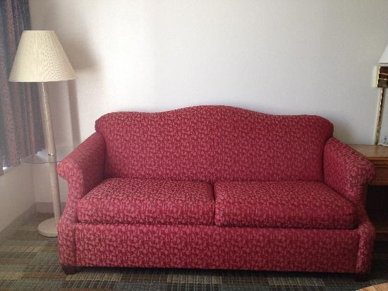 Americas Best Value Inn: Sofa in King room