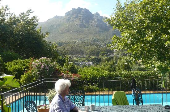 The King's Place: Granny at the poolside.