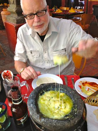 Casa Fuerte : A delightful appetizer: the melted Mexcian cheese