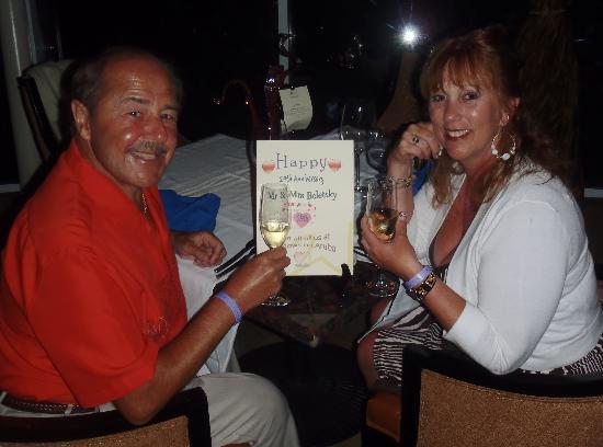 Windows on Aruba Restaurant: 29th Anniversary Dinner at Windows on Aruba