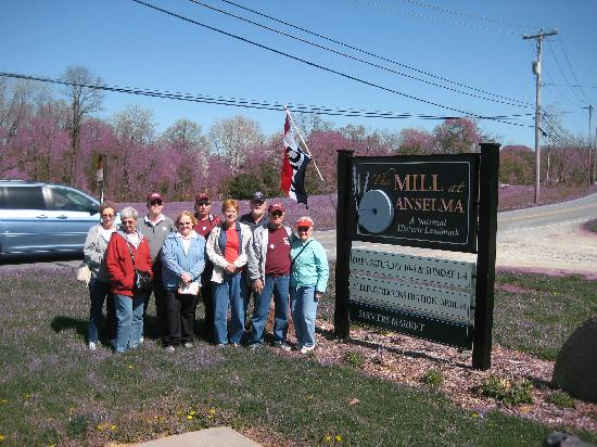 The Mill at Anselma: our group at the entrance