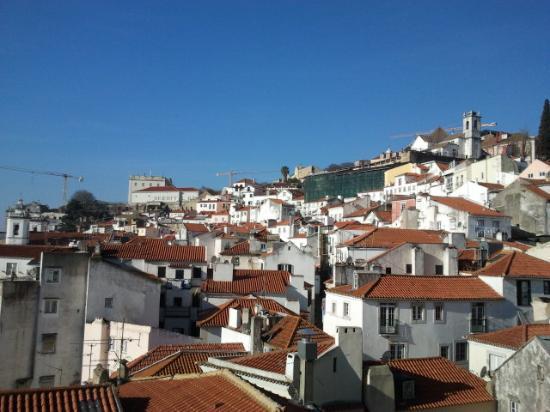 Pateo Santo Estevao: Le ravissement de la vue sur le Miradouro Santa Luzia chaque matin