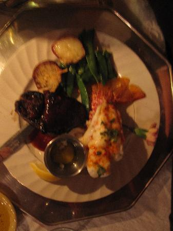 Osceola Mill Restaurant, B&B and Cabins: Surf & Turf w/ South African Lobster