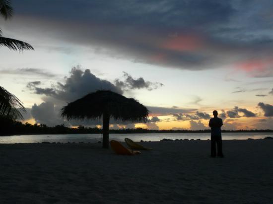 Pension Hotu: coucher de soleil