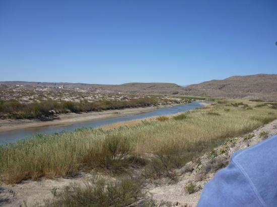 Boquillas Canyon: Rio Grande with Boquillas Del Carmen in the distance.