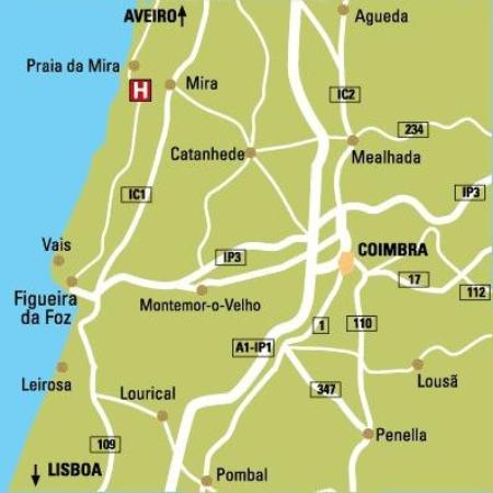 Miravillas Hotel: Map