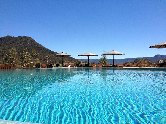 Emirates One&Only Wolgan Valley : The main resort pool - but nobody ever showed up to serve me a drink!