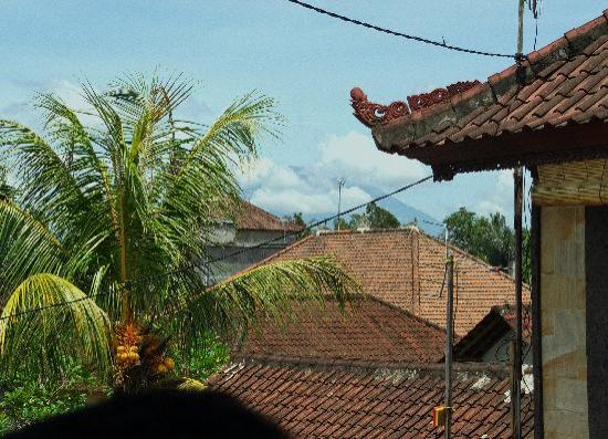Jangkrik Homestay: View on Gunung Agun
