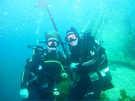 Dive North : Us on the HMNZS Canterbury  te KeriKeri New Zealand