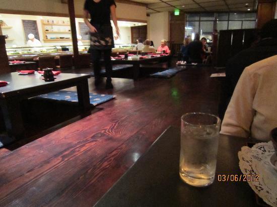 Irori Japanese Restaurant: the raised floor