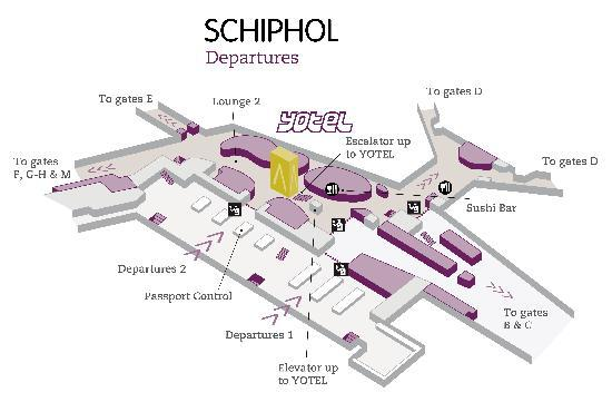 Map Picture of Yotel Amsterdam Schiphol Airport Schiphol