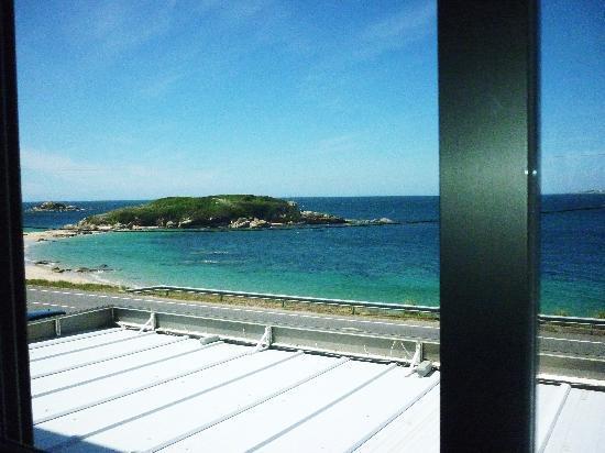 Hotel Lanzada: Vistas desde la habitación a la playa de La Lanzada