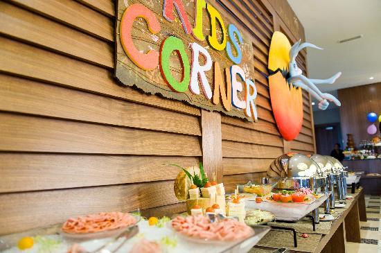 AOC French Brasserie: Kids corner at Friday Family Brunch