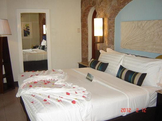 Paradise Sun: Romantic turndown on our first night as well as on Valentine's Day
