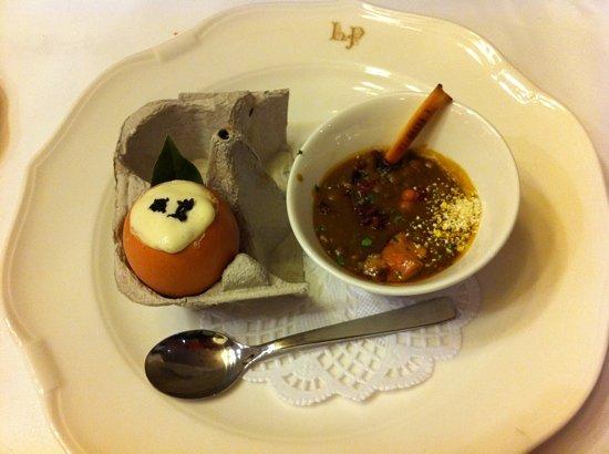 La Cocina De Alex Mugica: Las lentejas de siempre, pero con delicias de pato y foie Huevo, foie, hongos, patata y trufa me