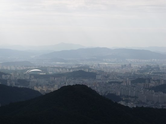 View of Gwangju from Jeungsimsa side of Mudeungsan
