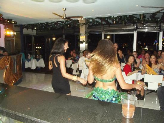 Marina Mazzat: Our lovely Bellydancer giving free lesson