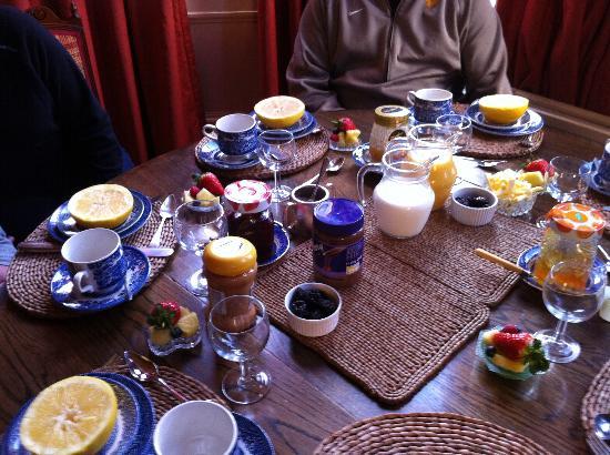 Elderfields Guest House : Aperçu du petit déjeuner