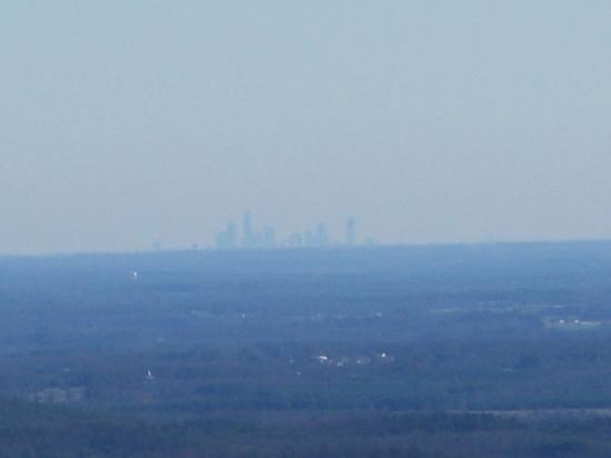 South Mountains State Park: Charlotte Skyline from Chestnut Knob