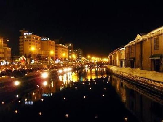 오타루 - 小樽市、小樽運河の写...