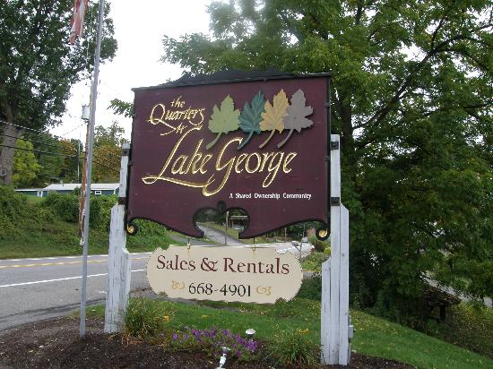 The Quarters at Lake George: The entry sign