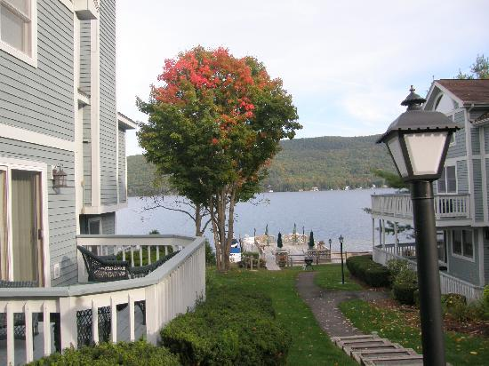 The Quarters at Lake George : View towards lake