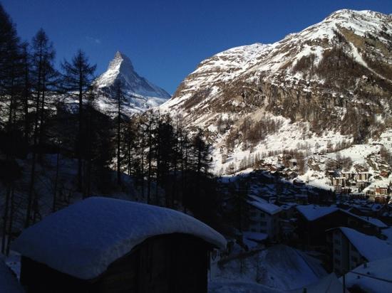 CERVO Zermatt: Blick von der Zimmerterrasse