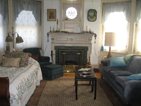 Castle Bed & Breakfast: living room/library