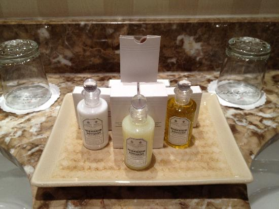 Hotel d'Angleterre: Complimentary toiletries...Again, beautifully presented