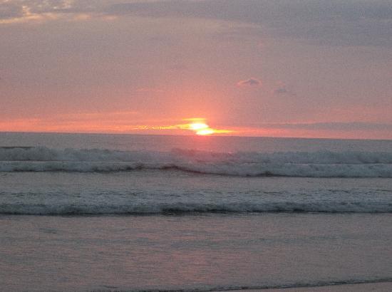 Diquis Del Sur : coucher de soleil du balcon
