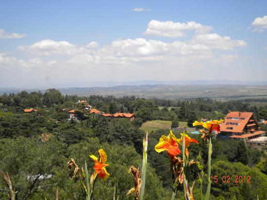 Castillo de Mandl: vista desde el castillo