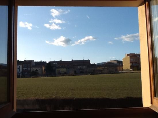Hotel L'Oreneta de Gironella: the view from the window