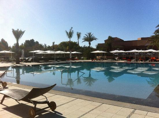 Pullman Marrakech Palmeraie Resort and Spa: Piscine à debordement