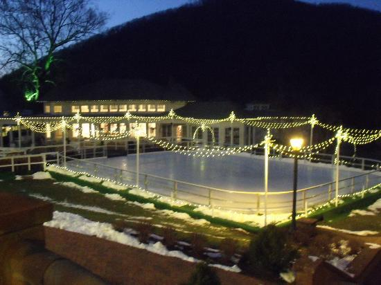 The Omni Homestead Resort: The skating rink.