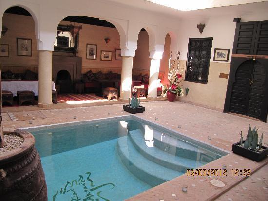 Riad Anjar: la petite piscine