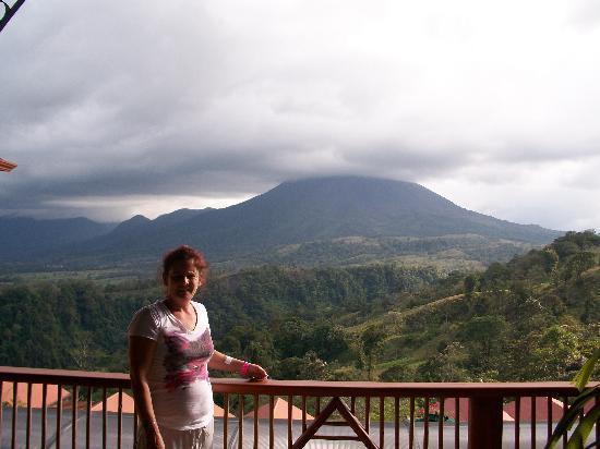 Arenal Volcano riding tour: l'arrivée face au vocan