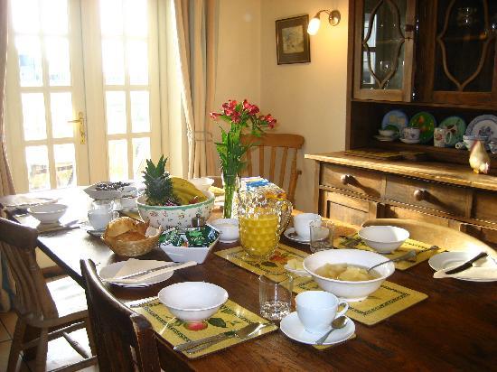 Eastbrook Cottage Bed & Breakfast: Breakfast at Eastbrook Cottage