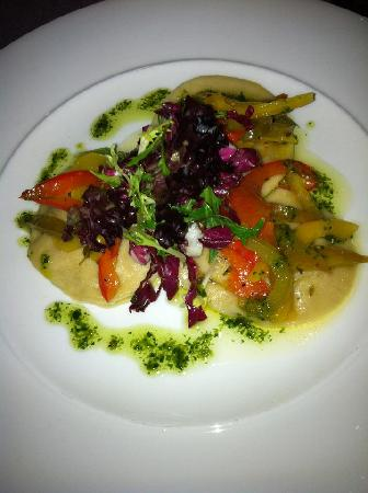 Brambles Seafood + Grill: Butterbut squash ravioli - starter (very nice)
