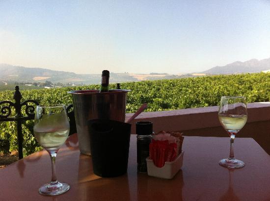 Skilpadvlei Wine Farm : Blick von Terrasse des Restaurants
