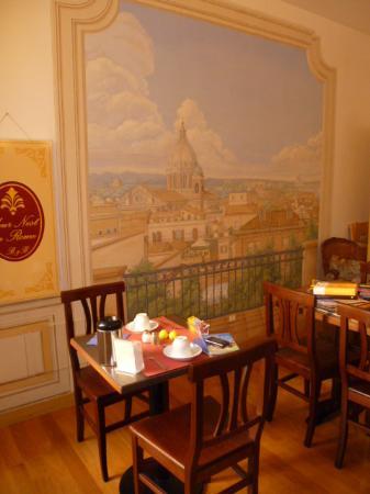 Ripa145 B&B: Sala colazioni - nostro angoleto