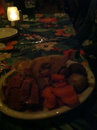 Warren, RI: corned beef dinner