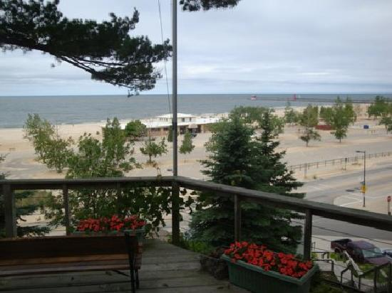 The Looking Glass Inn: View from our deck of Grand Haven State Park!