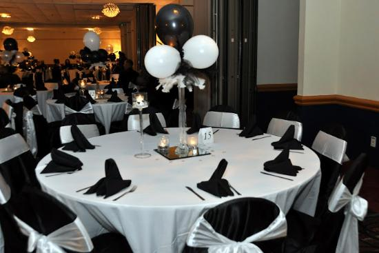 Banquet Room Black White Affair Foto Van Clarion Hotel Atlanta